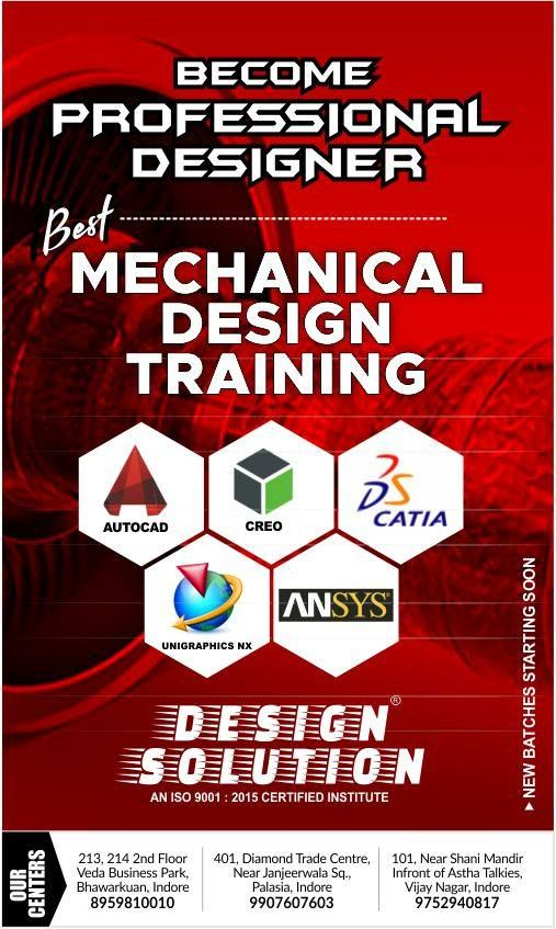 Become A Professional Designer In Mechanical Software New Batches Starting Soon Hurry Up Register Now Design Solutions Autocad Design Tutorials