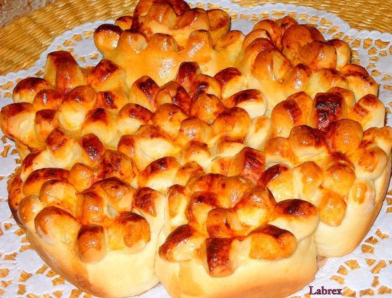 Пирог «Букет хризантем» : Выпечка несладкая