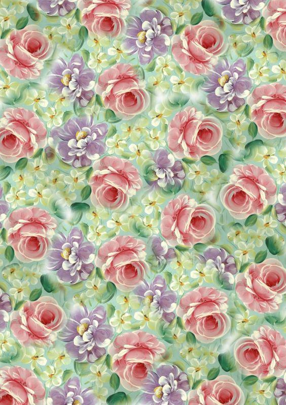SIMPLY CRAFTS: ***NEW*** ROSES & DAISIES VINTAGE BACKGROUND PAPER: