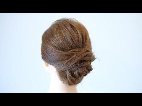 巻かないで作れるアップスタイルアレンジ Easy Updo Hairstyle Hair Works Sol Youtube 美髪 短い髪のためのヘア