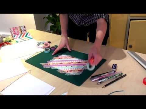 Tutoriel diy vid o faire un carnet et le customiser - Que faire avec du masking tape ...