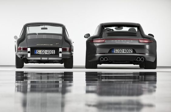 From beetle to beast - 1964 Porsche 911 Coupé & 2013 Porsche 911 Carrera 4S Coupé