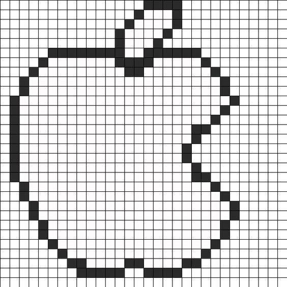 apple logo perler bead pattern    bead sprite