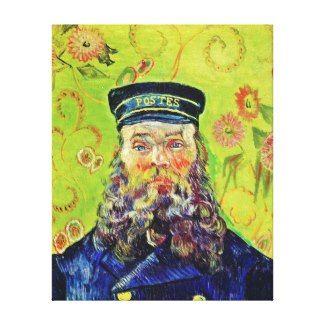 SOLD! - Portrait Postman Joseph Roulin Vincent van Gogh Premium Wrapped Canvas print (Gloss) #postman #portrait #roulin #vangogh #gogh #postimpressionism #Paris #France #canvas #print #home #decoration