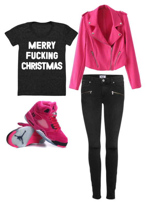 """Merry Christmas"" by jojolol-1 ❤ liked on Polyvore featuring Paige Denim"