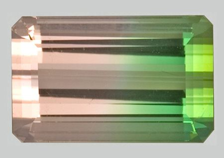 Tourmaline is the most colorful of all gemstones. It occurs in all colors, but pink, red, green, blue and multicolored are its most well-known gem colors. Scientifically, tourmaline is not a single mineral, but a group of minerals related in their physical and chemical properties. The mineral Elbaite is the member of the Tourmaline group that is responsible for almost all the gem varieties. Three other members of the group - Schorl, Dravite and Liddicoatite, are seldom used as gemstones.