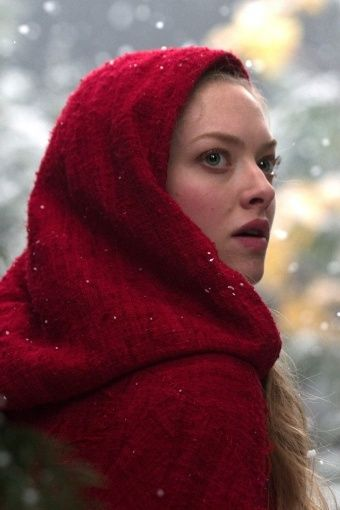 Red Riding Hood - Holiday Sarves - See the scarves board for charts on how to wear your scarves in the most attractive way for Holiday dress!