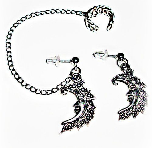 Ear Cuff Chained to Studs w/ Half Moon Charms Earlums, http://www.amazon.com/dp/B009Q6KL80/ref=cm_sw_r_pi_dp_172Fqb0HH5122