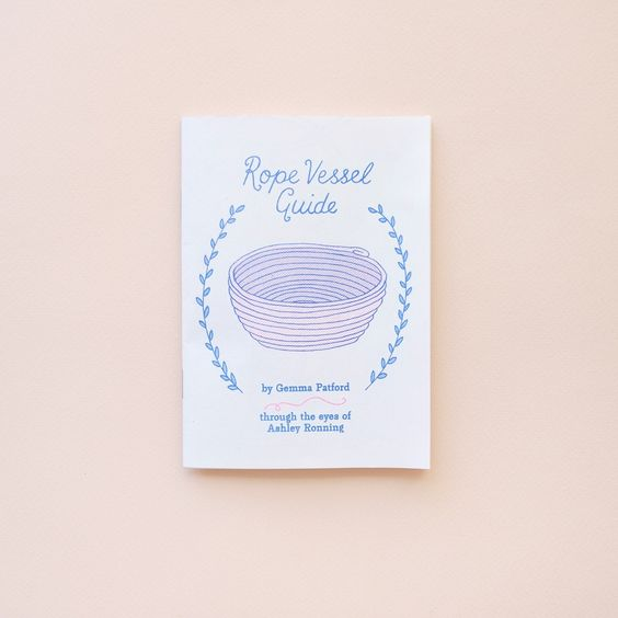 A simple yet comprehensive guide to rope vessel crafting which even an absolute beginner can use. This guide will teach you everything you need to know to create your own rope vessel from start to finish using fun colourful step by step illustrations by artist Ashley Ronning.This beautiful 20 page zine is risographed in a pretty royal blue, and bright pink on 100 gsm envirocare recycled stock. A6 sized, this is the first edition of 100 copies.