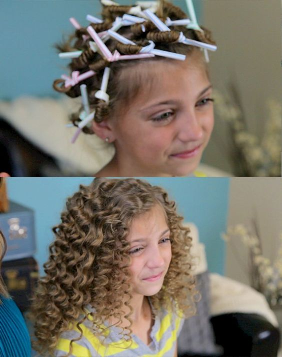 Curls Without Heat Curls And Straw Curls On Pinterest