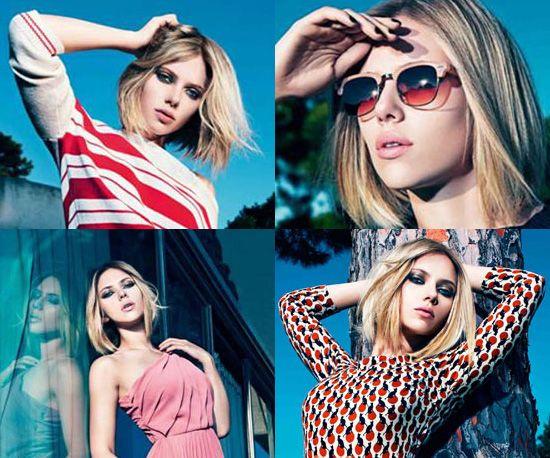 Scarlett Johansson Models For Mango Spring 2011