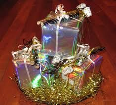 Image result for stacked gift box centerpiece christmas