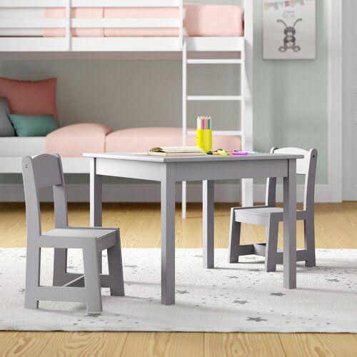 Harriet Bee Lemuel Children S 3 Piece Table And Chair Set Round