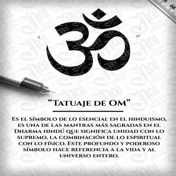significado de tatuaje de om in 2020   Om tattoo, Om tattoo design, Tattoos  with meaning