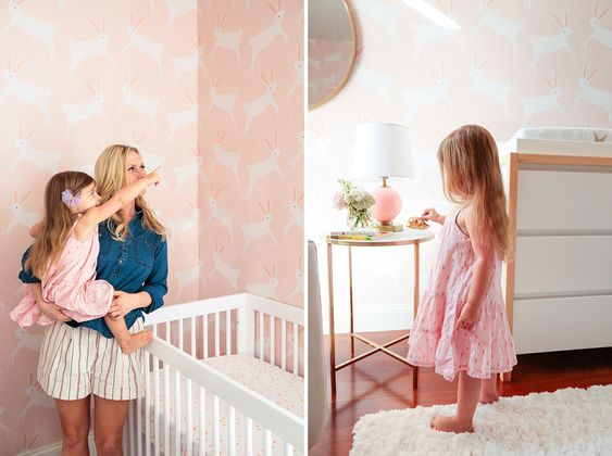 Emily Henderson Designs a Pink Bunny Nursery for a Baby Girl: