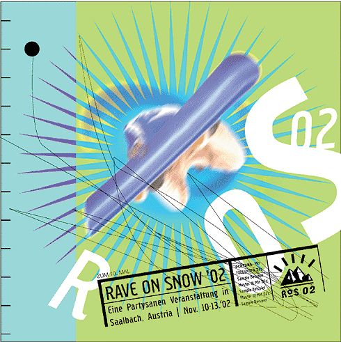Illustration for snowboarding event. Design: Marc Posch Design, Inc. Los Angeles