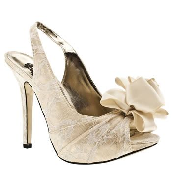 Schuh flower rose lace high heels. £62. Maybe a little high for what I want but perfect fabric to go with the dress.