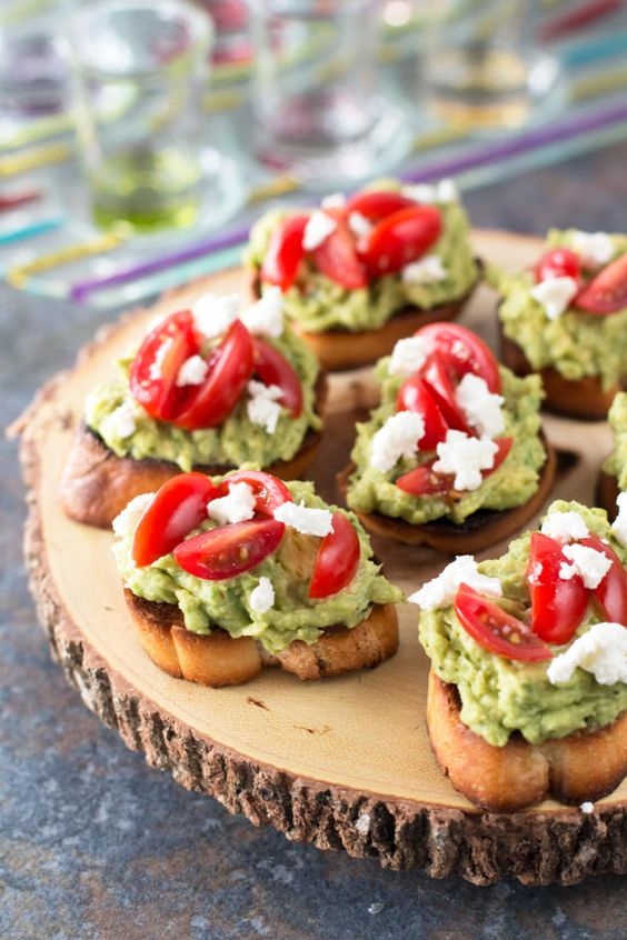 Avocado Goat Cheese Crostini is creamy, spicy, and perfect for any party. So good!