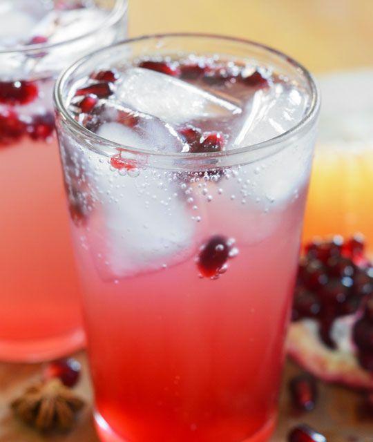 Pink Grapefruit and Pomegranate Soda