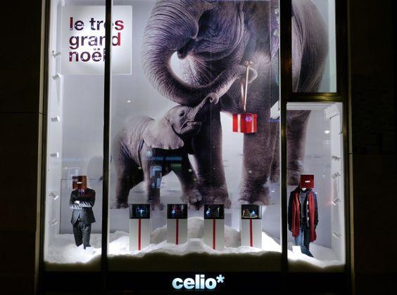 celio very big Christmas windows by Clément Delbes, Paris – France » Retail Design Blog