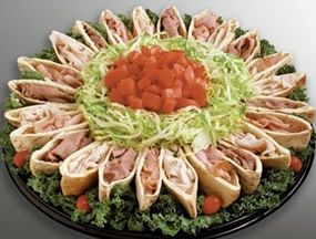 sandwich platter - fill with egg, tuna, salmon, crab and chicken salad