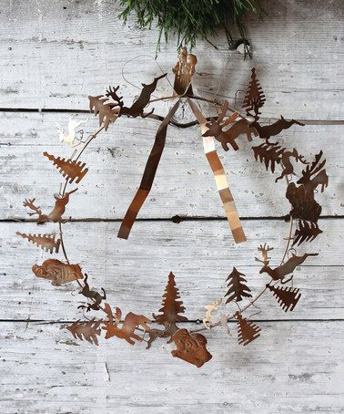 Another great find on #zulily! Deer & Trees Wreath #zulilyfinds
