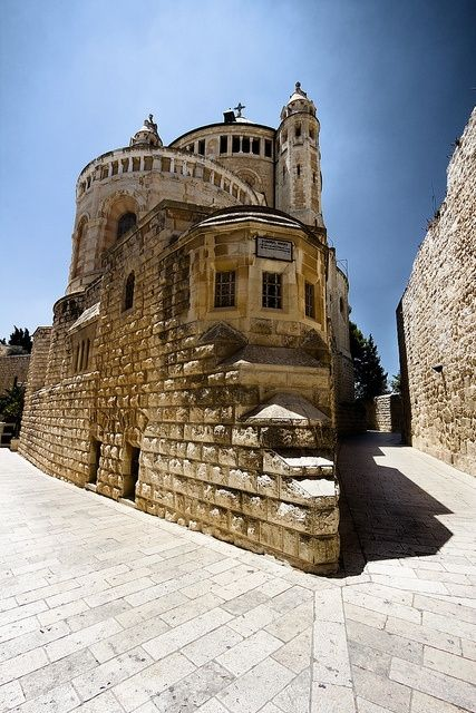 Hagia Maria Sion Abbey, also known as Dormition Monastery, on Jerusalem's Mount Zion, Israel.