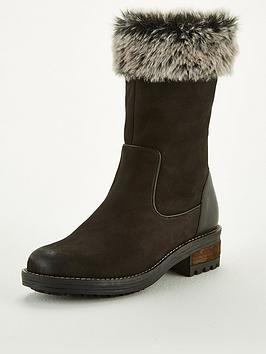 Hoxekle Winter Women Snow Boots Fashion Winter Women Shoes Autumn Female Boot Mid-Calf Platform Boots Woman Shoes