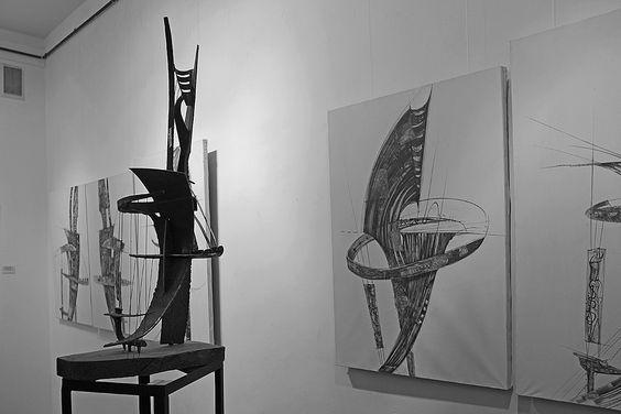 Экспозиция персональной выставки Петра Торопова в Калининграде. Фото Жени Шведы