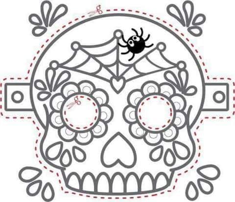 Tu Tarea Craneo Para Colorear Mascaras Dia De Muertos Actividades Dia De Muertos Calaveras Para Colorear