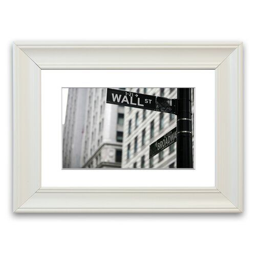 Wall Street And Broadway Signs Cornwall Living Room Framed Wall