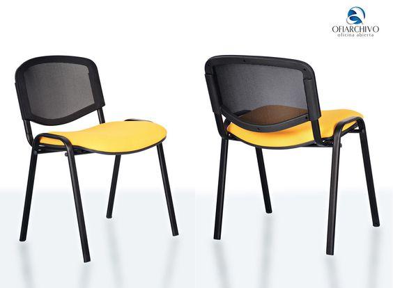 Silla interlocutora con espaldar en malla y asiento for Silla interlocutora