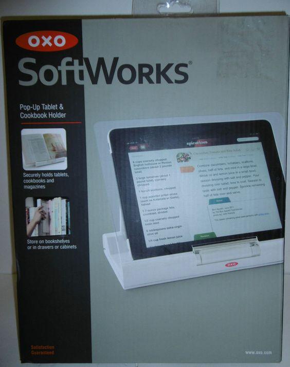 Oxo Soft Works Pop Up Tablet Amp Cookbook Holder Aa16hxx