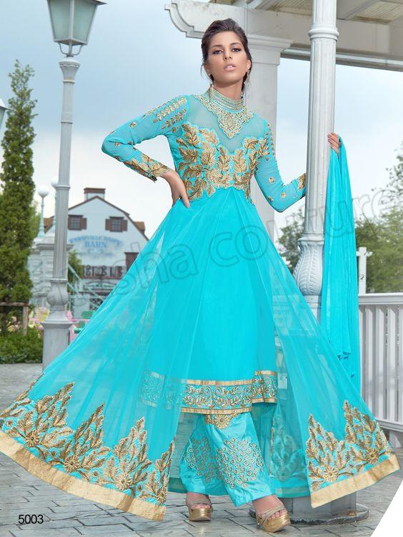 #Designer pakistani suits #Blue #Indian Wear #Desi Fashion #Natasha Couture #Indian Ethnic Wear # Salwar Kameez #Indian Suit