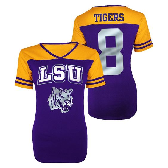 Lsu Tigers Juniors V-Neck Purple S, Women's, Size: Small