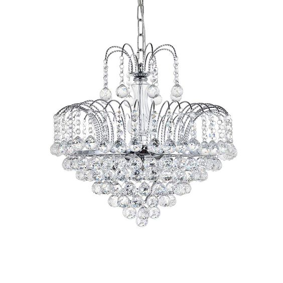 A1a9 Modern Crystal Chandelier Clear K9 Crystal Ball Raindrop