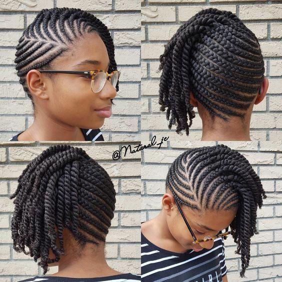 Cornrows For Natural Hair Growth Braidedforshorthair In 2020 Natural Braided Hairstyles Cornrows Natural Hair Hair Twist Styles