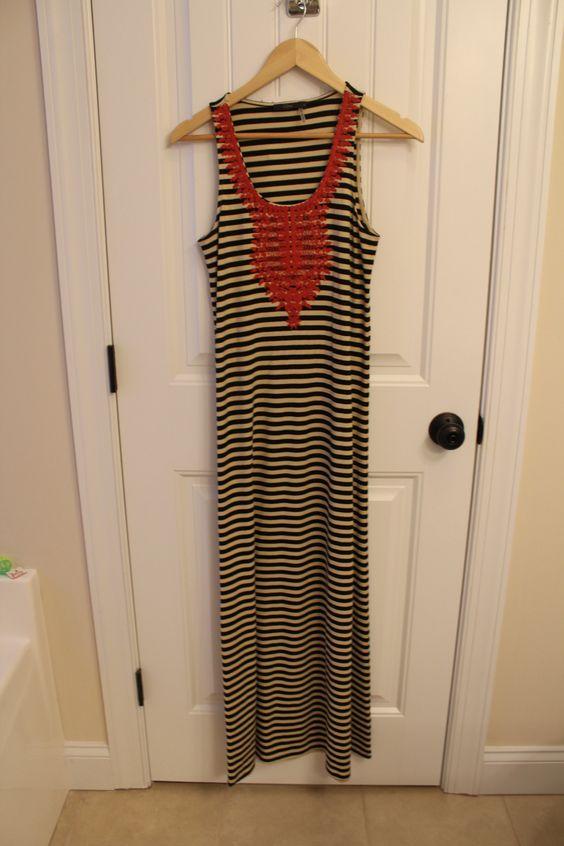 Kahlo Racer Back Striped Maxi Dress #StitchFix