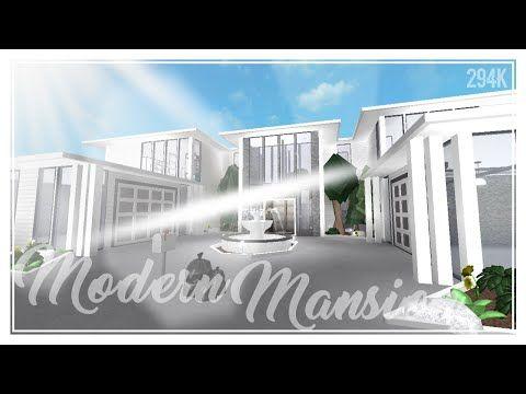 Modern Mansion 294k Bloxburg Speedbuild Youtube With Images