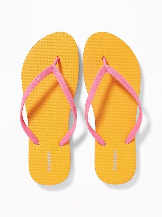 Pop-Color Flip-Flops for Women   Old
