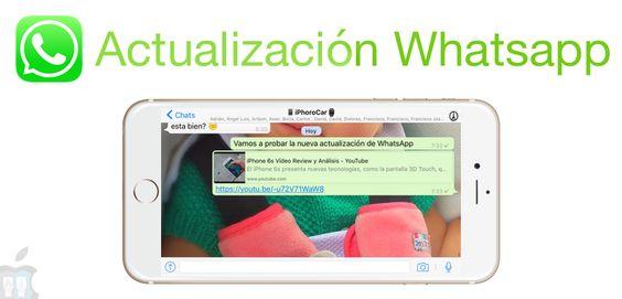 WhatsApp se actualiza con vista previa de enlaces y mucho más - http://www.actualidadiphone.com/whatsapp-se-actualiza-con-vista-previa-de-enlaces-y-mucho-mas/