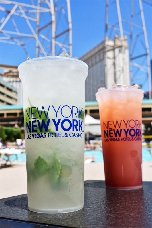 Drinks By The Pool In Las Vegas At New York New York New York New York Las Vegas Pool Las Vegas Pool Las Vegas Las Vegas Hotels