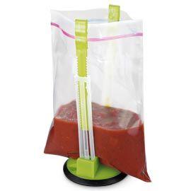Baggy Rack Like having an extra pair of hands—no spilling!: Baggy Rack, Kitchen Gadgets, Ziploc Bag, Baggie Rack, Kitchen Tools