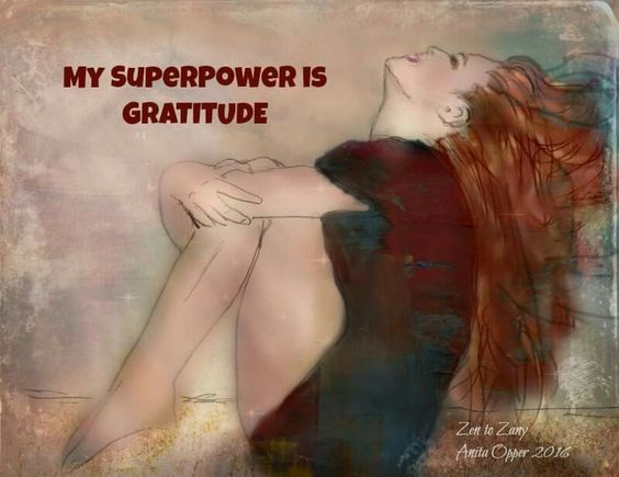 I take a leap of faith and risk being satisfied and I am full of gratitude for the gifts I have been given...