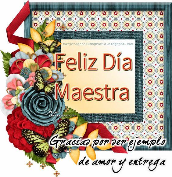 Feliz d a maestra tarjetas de saludo gratis saludos - Saludos de navidad ...