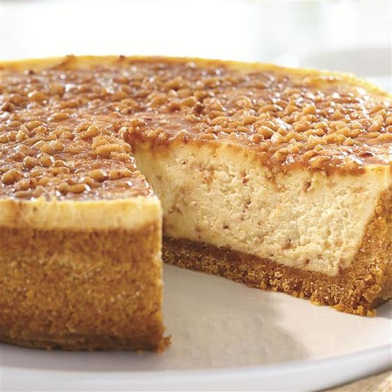 Try this recipe for English Toffee Cheesecake from Smucker's for your Easter dessert. A graham cracker crust with creamy classic cheesecake has English toffee bits throughout, and is served with caramel topping.