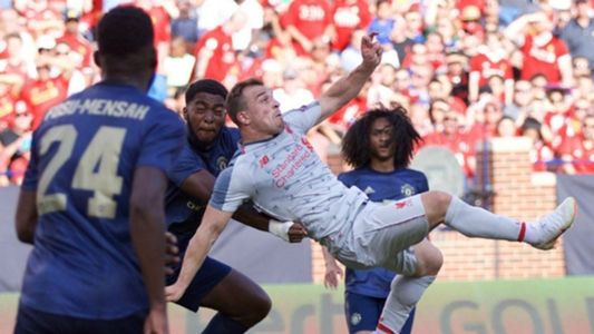 That S Not Normal Klopp Stunned By Shaqiri S Overhead Kick Liverpool Goals World Sports News Manchester United