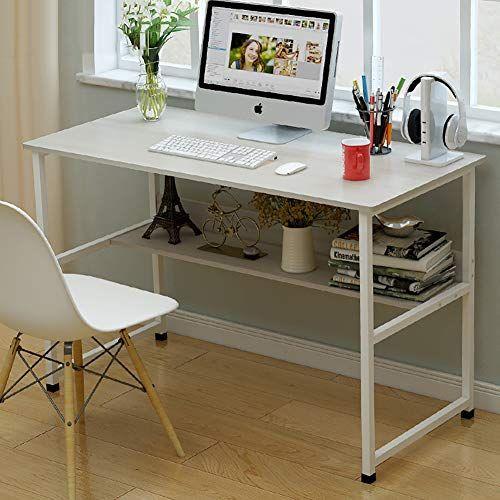 Topyl Computer Desk With Bookshelf 47 Modern Simple Style Desk For Home Office Sturdy Writin Pc Desk Bookshelf Desk Workstation