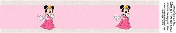 Minnie Princesa: etiquetas para imprimir gratis, segunda parte.