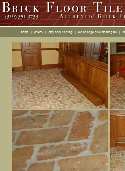 This web site sells brick veneer for Brick veneer floor